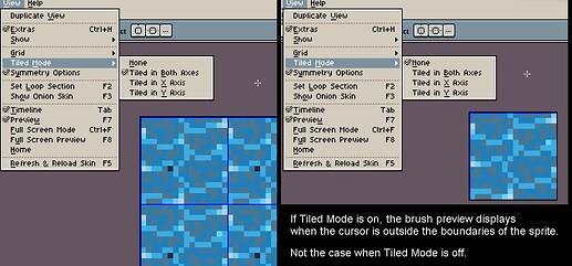 aseprite tiled mode brush preview