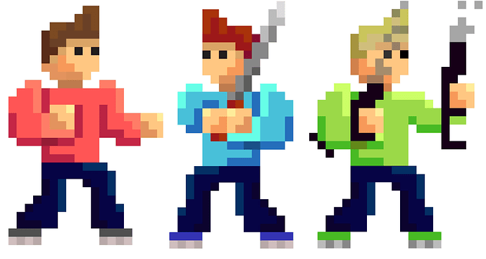 pixel art fighters