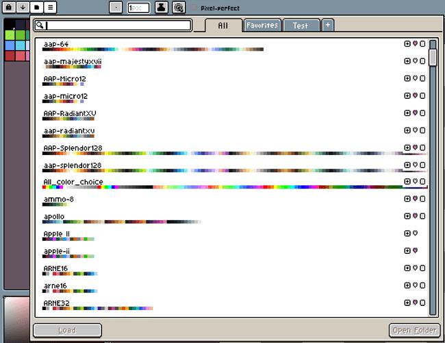 Palette Organization