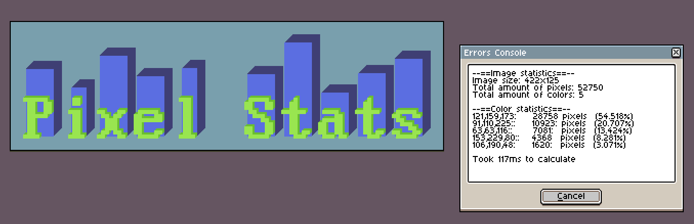 Pixel Stats - Check the total amount of colored pixels you used in