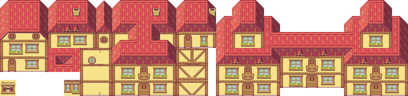 top down tileset HOUSES
